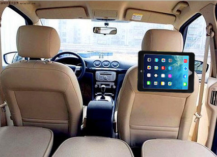 PU Leather Car Velcro Seat Headrest Holder Mounting Strap Case For iPad Air