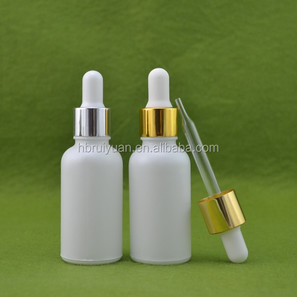 5ml 15ml 20ml 30ml 50ml 60ml 100ml white pump glass dropper bottle for cosmetics e liquid e juice wholesale in China--stock!!!