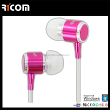 Metal flat cable earphones,Metal wire metal earphone,Metal braided durable cable earphone-EO3007B--Shenzhen Ricom