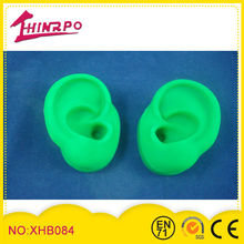 silicone ear model for showing hearing aid