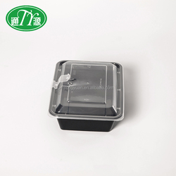 OEM Welcome disposable black plastic box pp disposable lunch box take out food boxes