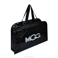 High quality embossing glossy laminated non woven shopping bag with zipper