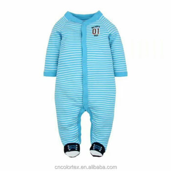 Comfortable infant long sleeve striped sleepwear