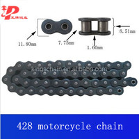 Africa motor part made in china 428-116L color motorcycle roller chain