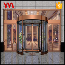Best quality hotel entrance 2 wings automatic revolving door