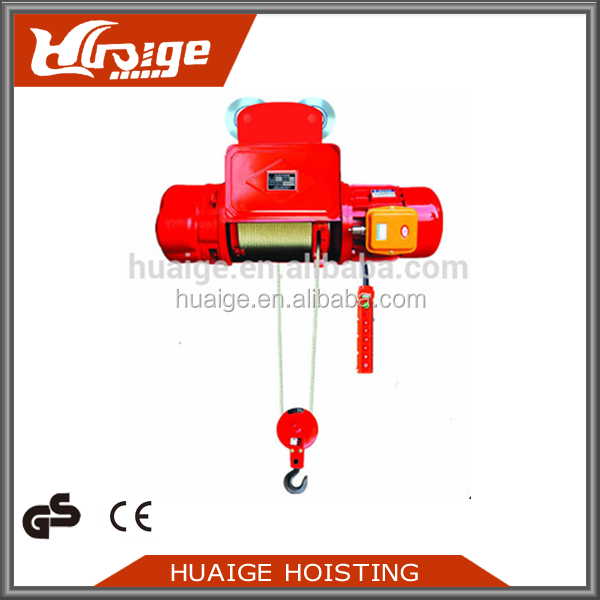 China Supplier Mini Electric Rope Hoist Lifting Monorail Hoist