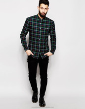 Mens Slim Fit Sexy Fashion Casual Long Sleeve Flannel shirts / Mens fashion long Sleeve Check wholesale newest Shirts