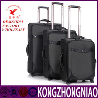 Kong zhongniao 360 degree slient Universal wheel classic cheap luggage case, Aluminum luggage trolley, luggage bag