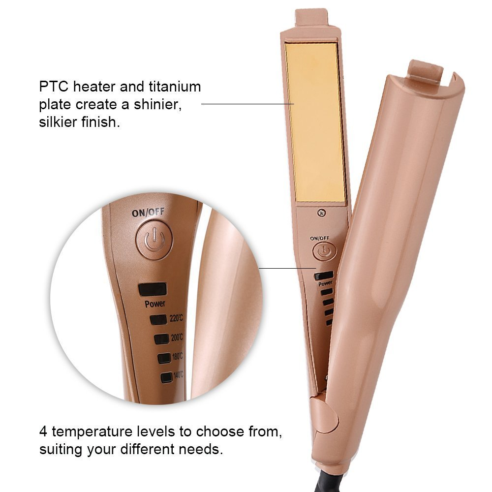 2018 Best new design cheap magic professional steam electric travel hair straightener wholesale ceramic titanium hot flat iron