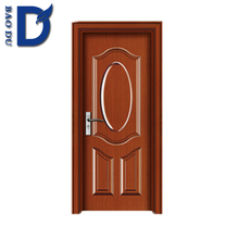 Alibaba 2016 hot sale pvc wooden used commercial glass doors fancy entrance pvc wooden door