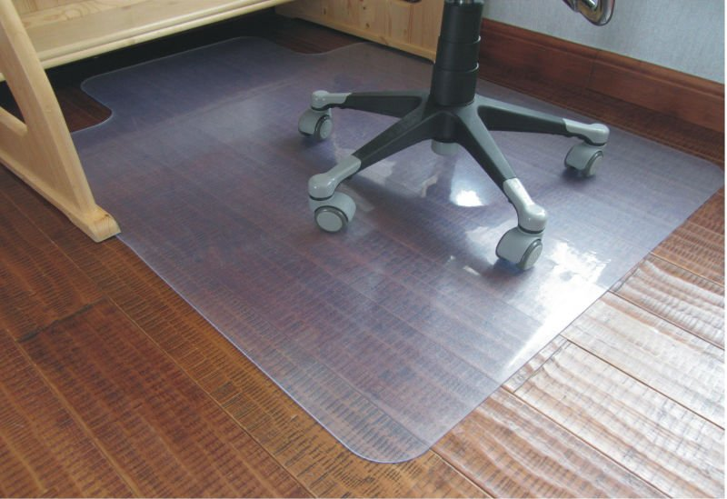 "Chair Mat with Lip for Medium Pile Carpets up to 5/8"" Thick"