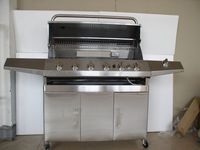 Stainless Steel Gas BBQ Grill / Industrial Gas Grill / Oven /Stove with Cast Iron Grate