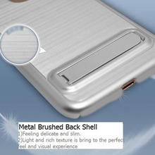 Original Metal Border Stripes Stand TPU PC Combo Mobile Phone 7 Case Cover