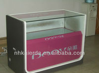 MDF Mobile Showcase/mobile phone shop kiosk/mobile phone glass display showcase