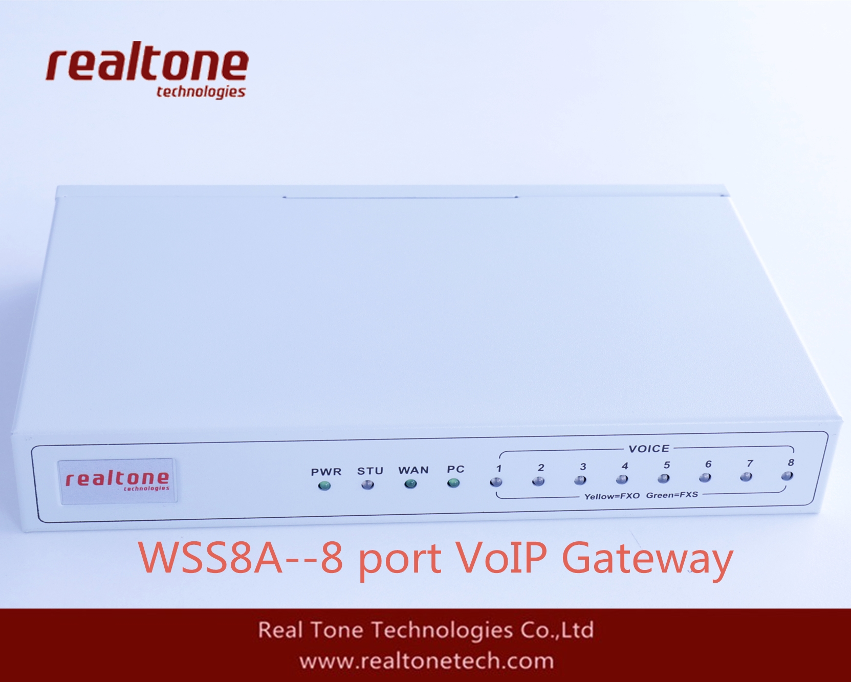 4FXS+4FXO port VoIP Gateway compatible with sip ippbx system