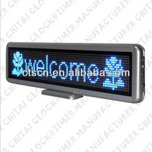 Desk Standing Pattern Design Display LED Running Message Display