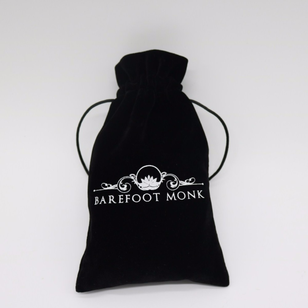 High Quality Mini Jewelry Drawstring Brush Velvet Bag With Custom Logo