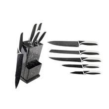 5pcs professional kitchen knife set with holder manufacture Yangjiang Knife and scissor industry wholesale direct