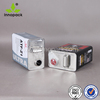 5 L square Tin cans chemical oil metal cans with plastic plug