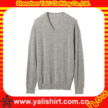 OEM comfortable v-neck plain heavy knit pullover 2013 new fashion design sweater men