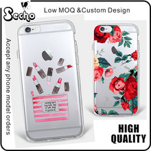 For iPhone 5S Phone Case 6S 7 Custom Rose Floral Flowers Transparent TPU Phone Case for iPhone SE Case Cartoon Design