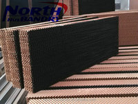 Evaporative cooling pad / cellulose pad /wet curtain with black paper
