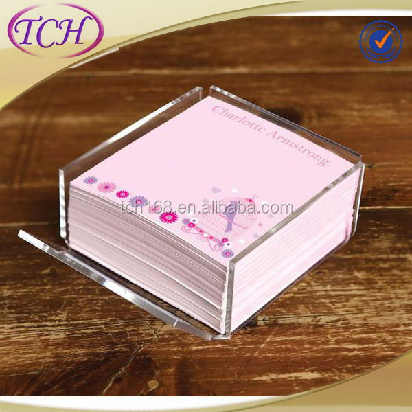China wholesale custom acrylic memo holder for stationery holder