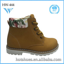 New arrival kids printed casual lace-up boots beautiful fancy good quality hot selling kids printed casual lace-up boots
