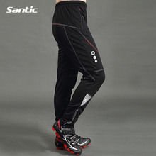 Santic Cycling Pants Men's Thermal Fleece Wind Pants Winter Windproof Pants Outdoor <strong>Sportswear</strong> Casual Trousers Bike Clothing