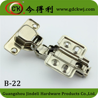 Guangdong China manufacturer removable 2- way concealed cabinet hinge clip-on hinge B-22