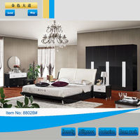 Simple classic design bedroom set for Russia market with king princess double size