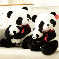 25cm small size mother and child panda Plush Toys cartoon bear stuffed plush animals doll birthday gift