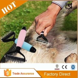 Pet Dematting Comb Removes Loose Undercoat, Mats and Tangled Hair
