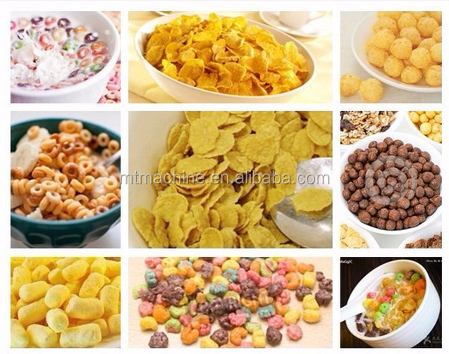 Stainless steel breakfast cereal Corn Flakes Extruder Machine