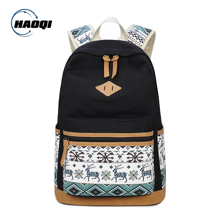 Popular Custom Bagpack Vintage Canvas Back Pack For Students back to <strong>school</strong>
