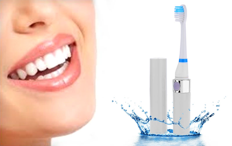 Ultrasonic Electric Toothbrush Portable Waterproof Automatic with 3 Brush Heads Oral Hygiene Teeth Cleaning
