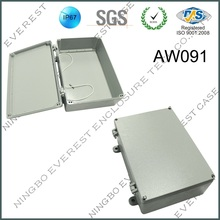 Hot Sale Aluminum Gray Waterproof Box with Hings