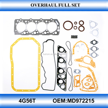Top quality 4D56T MD972215 engine overhaull gasket set used engine