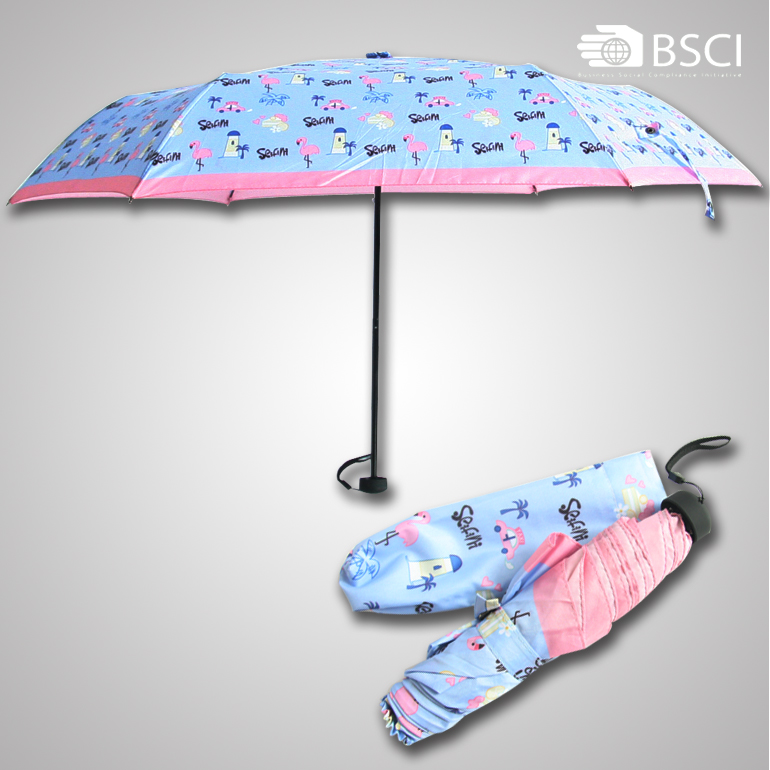 Manufacturer in china promotional portable 3 fold umbrella low cost