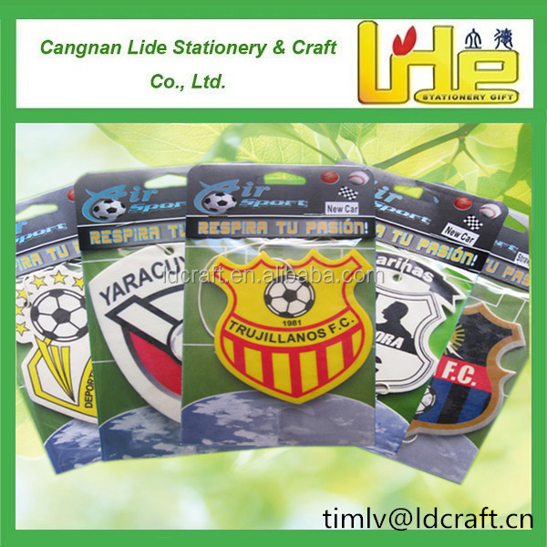 football soccer cup football club promotional gift car paper air freshener