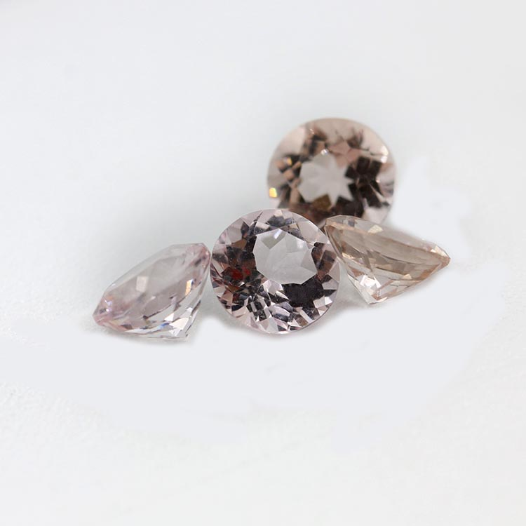 factory sale round shape 6mm pink color morganite jewelry stone