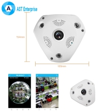 360 Degree Camera IP 3MP Fish Eye WIFI PTZ CCTV 3D VR Video IP Camera