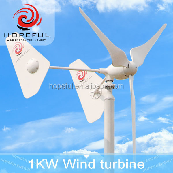 1KW off-grid 48 volt small wind turbines for sale