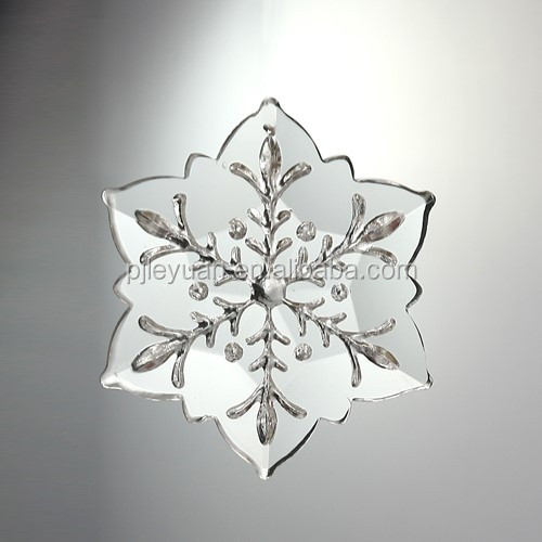 handmade snowflake-shaped crystal chandelier parts accessory