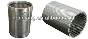 Hengying deep well strainer/stainless steel wedge wire screen