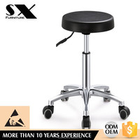 ESD chair School Furniture Lab Equipment Durable Pu Injection Foam School Lab Stool With Stainless Steel Footring YZ002