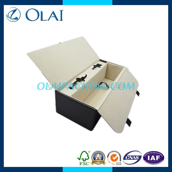 high quality single black wine box package design, with wine accessories