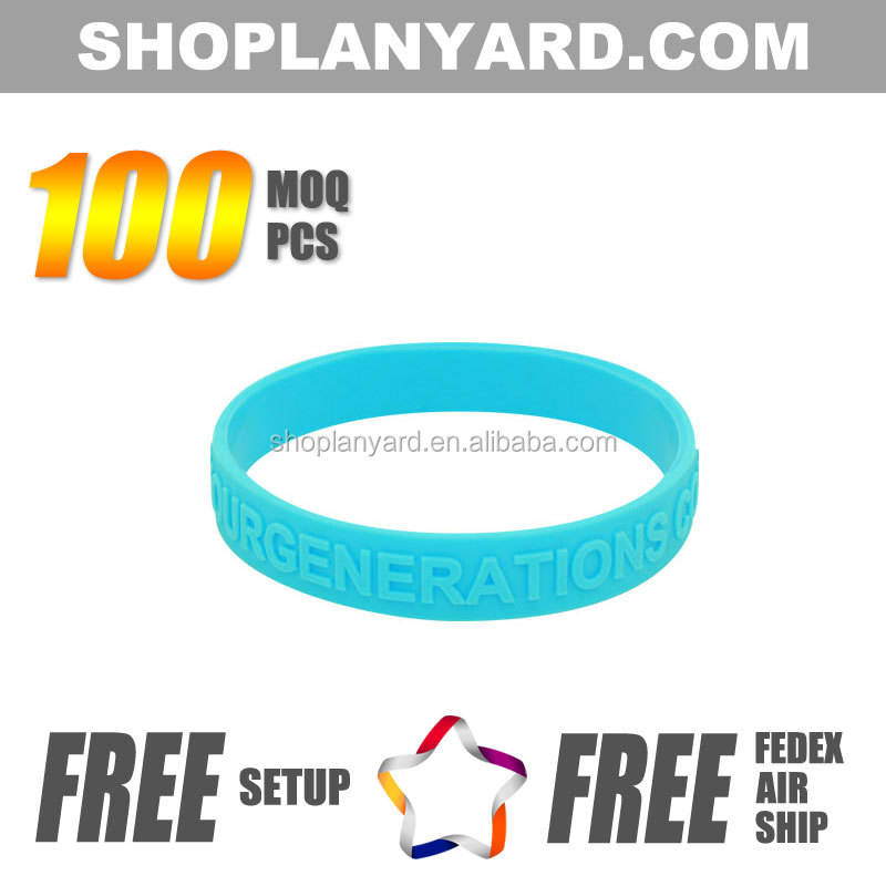 Top Quality Cheap Silicone Embossed Wristband