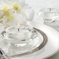Crystal Diamond Shaped Tealight Holders/candle holder for wedding