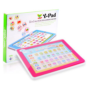 English electric kids laptop preschool educational toys with cards